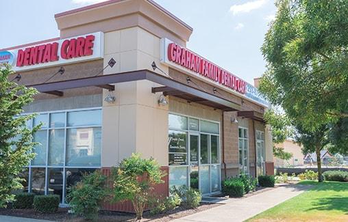 The exterior of the Graham Family Dental Care dental office